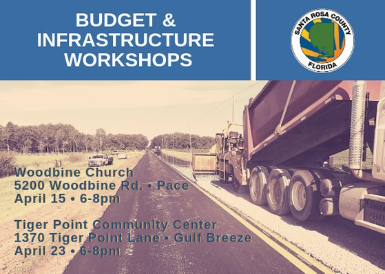 Budget and Infrastructure workshops postcard, all info in message below