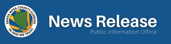 Santa Rosa County Florida In God We Trust logo. News Release. Public Information Office
