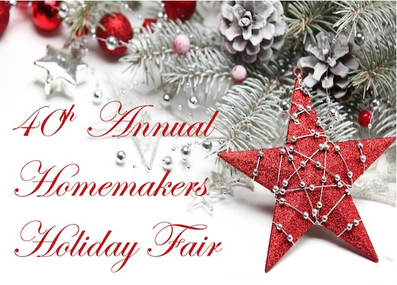 40th Annual Homemakers Holiday Fair Header Graphic