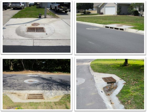 Images showing different types of drainage systems