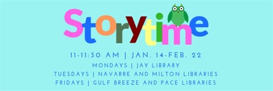 Storytime at Santa Rosa County libraries