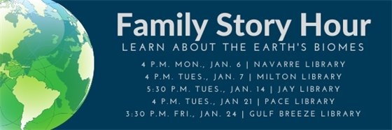 Family Story Hour - learn about the Earth's biomes