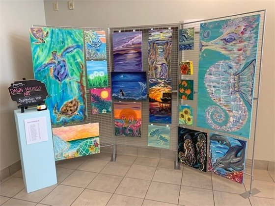 Example of a gallery display at Visitor Information Center