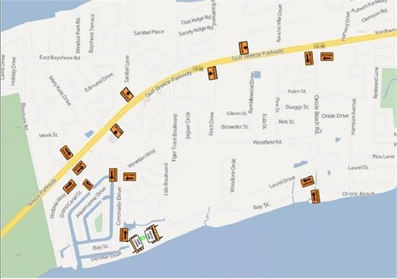 Bay St. in Gulf Breeze Road Closures