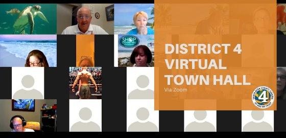District 4 Virtual Town Hall Via Zoom