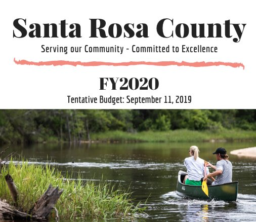 Cover of FY2020 Budget Document