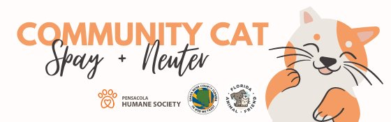 Community Cat Spay and Neuter Program graphic