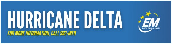 Hurricane Delta, for more information call 983-INFO (4636)