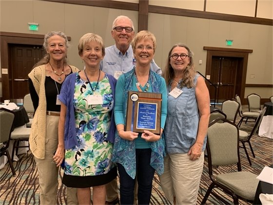 Santa Rosa County Master Gardener Volunteer Suzanne Spencer was honored by the State of Florida Master Gardener Program at UF/IFAS Extension as Outstanding Florida Master Gardener Volunteer of the Year