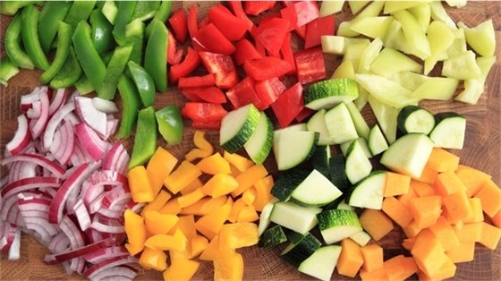Photo of chopped up vegetables