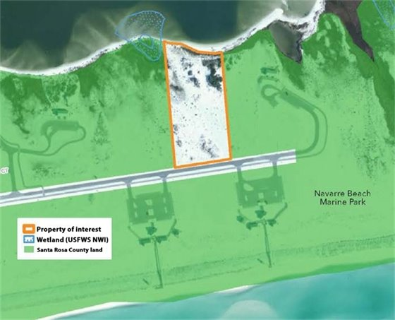 Map depicting proposed Navare Beach Marine Park addition