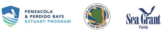Logos for Pensacola & Perdido Bays Estuary Program, Santa Rosa County and Sea Grant Florida
