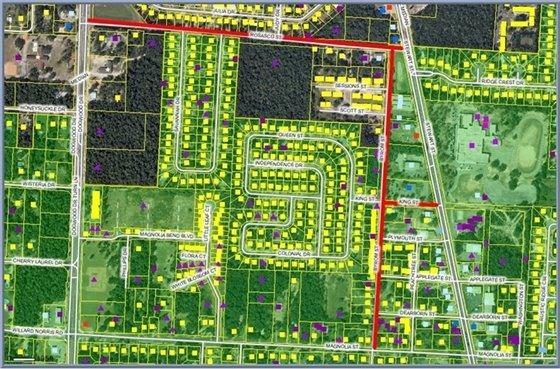 King iddle School Sidewalk Project Location Map