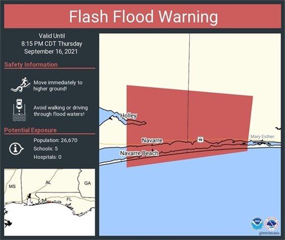 Flash Flood Warning in Navarre, FL