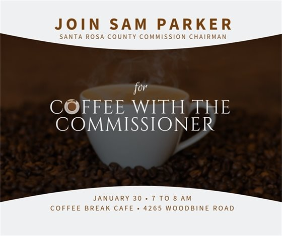 Coffee with the Commissioner - Jan. 30, 7-8 a.m. at Coffee Break Cafe