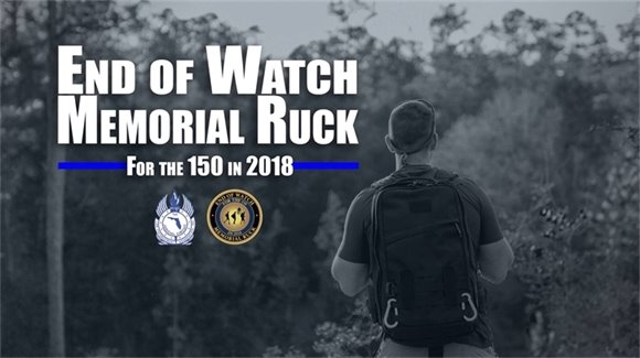 End of Watch Memorial Ruck for the 150 in 2018