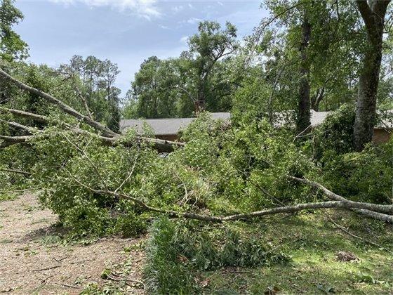 Debris on house