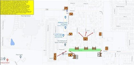 White Road detour map