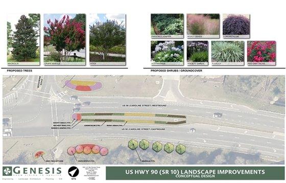 Highway 90 Landscape Conceptual Design