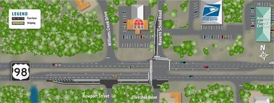 US 98/Navarre School Road Planned Turn Lane Improvements