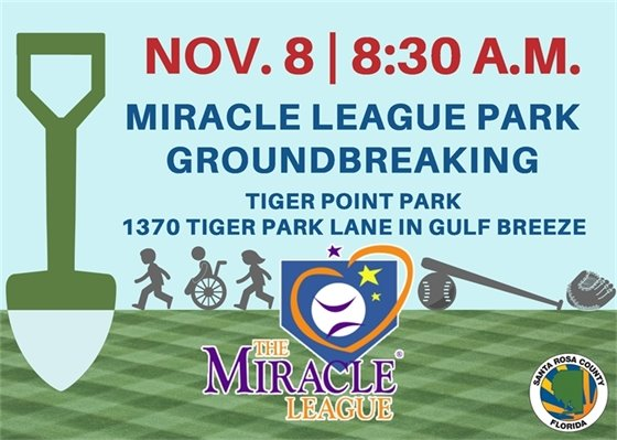 Miracle League Park groundbreaking Nov. 8 at 8:30 a.m. at Tiger Point Park in Gulf Breeze