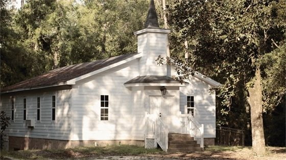 The historic Coldwater Creek Chapel photo taken by Assistant PIO Sarah Whitfield wins FAC calendar contest