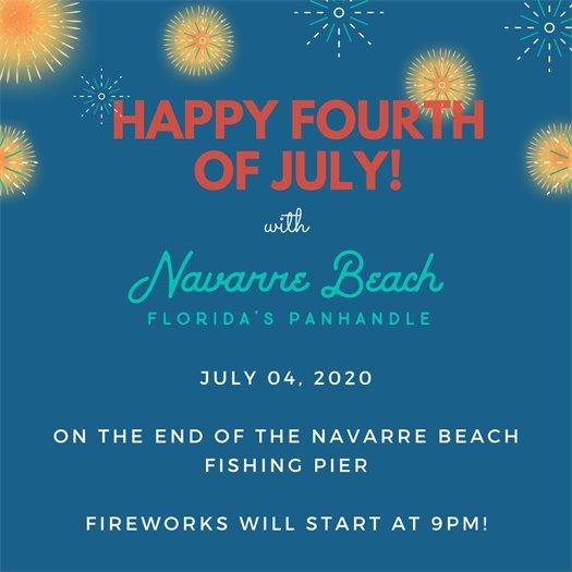 Fourth of July Fireworks on Navarre Pier