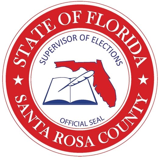 State of Florida Santa Rosa County Supervisor of Elections Official Seal