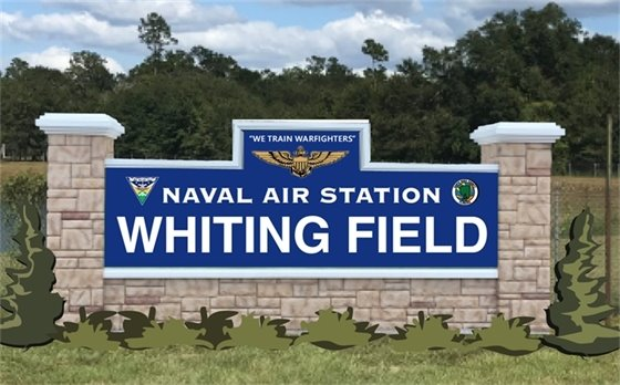 NAS Whiting Field monument sign rendering