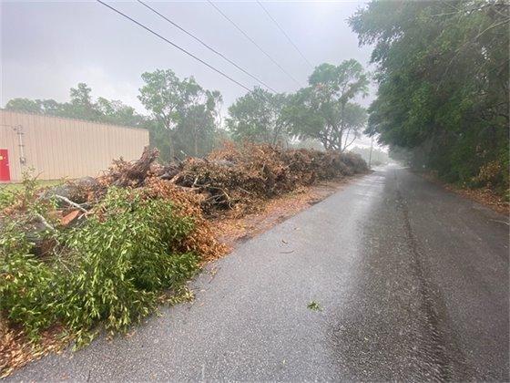 Debris awaiting pickup