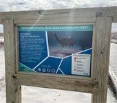 Snorkeling reef sign
