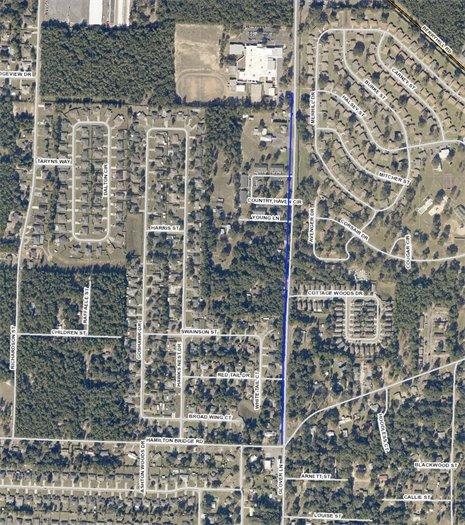Glover Lane sidewalk project map