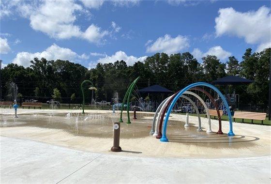 New splash pad at Benny Russell Park