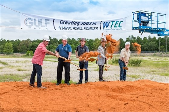 Gulf Cable groudbreaking featuring Gulf Cable and Santa Rosa County representatives
