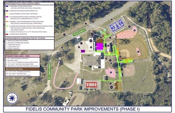 Fidelis Park site plan
