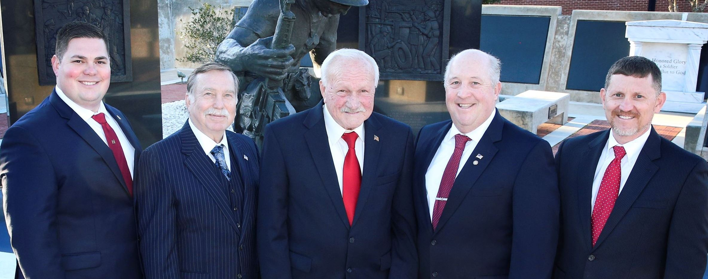 2019 Commissioners at Veteran's Memorial Plaza