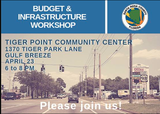 Budget and Infrastructure Workshop 1 at Tiger Point