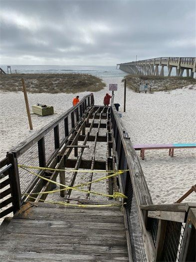 Navarre Beach construction projects