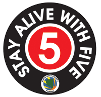 Stay Alive with Five Logo